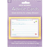 """Amscan Delightful New Mommy Advice Cards Baby Shower Game Party Novelty Favors (24 Count), 3-1/2 x 5"""", Multi"""