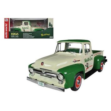 "1956 Ford F-100 Pickup Truck ""Mountain Dew"" Limited to 1250pc 1/18 Diecast Model Car by Autoworld"
