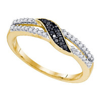 Black Diamond Fashion Ring in 10k Gold 0.19 ctw