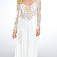 Showstopper Charmeuse & Lace Nightgown-Robe available(XS-Large)
