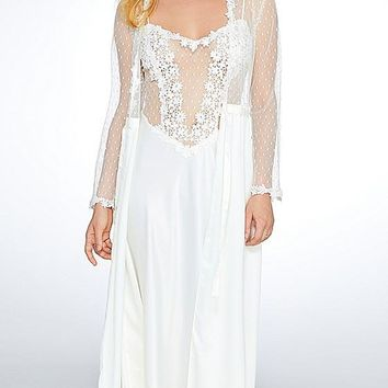 Showstopper Charmeuse & Lace Nightgown-Robe available (XS-Large)