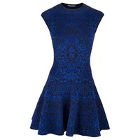 Alexander McQueen - Sleeveless Glory Dress (Black/Royal Blue)