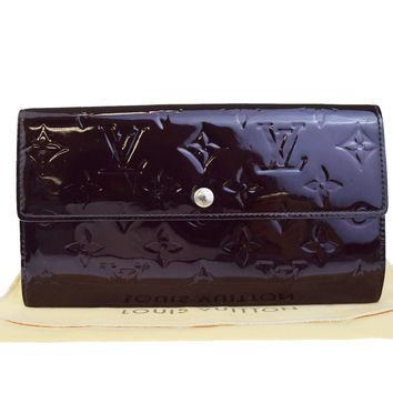 Auth LOUIS VUITTON Sarah Long Bifold Wallet Purse Monogram Vernis M91521 04EC224