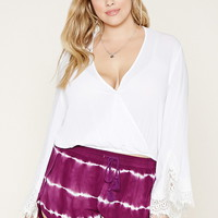 Plus Size Tie-Dye Shorts | Forever 21 PLUS - 2000171587