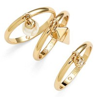 Rebecca Minkoff 'Jewel Box' Stackable Charm Rings (Set of 3) | Nordstrom
