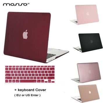 Clear Matt Plastic Case Laptop Shell Hard Cover for Macbook +Keyboard Cover