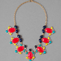 ELIZABETH JEWELED STATEMENT NECKLACE