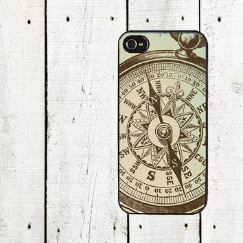 Nautical Compass iPhone Case - iPhone 4 Case - iPhone 5 Case - Gifts Under 25