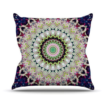 "Iris Lehnhardt ""Summer of Folklore"" Pink Navy Throw Pillow"