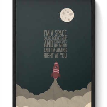Eminem Space Bound Framed Poster