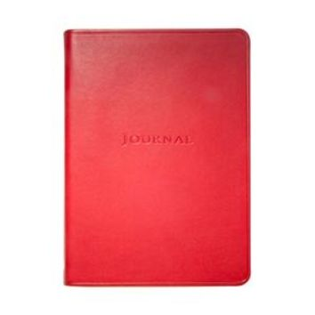 Medium Travel Journal  Traditional Leather -Red