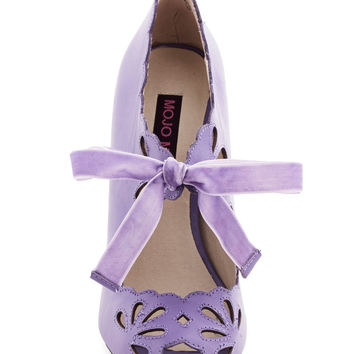 ModCloth Pastel Dainty Dramaturge Heel in Lavender