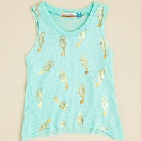 Vintage Havana Girls' Foil Seahorse Tank - Sizes S-XL