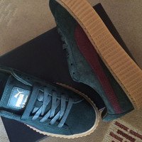 Rihanna Puma Green Bordeaux Creepers