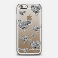 silver sparkly hearts iPhone 6 case by Marianna Tankelevich | Casetify