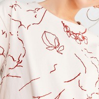 UO Faye Embroidered Tee | Urban Outfitters Canada