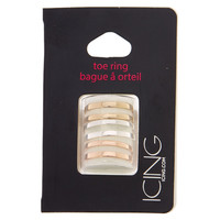 Mixed Metal Double Band Toe Ring Set