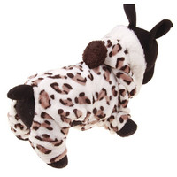 Fleece leopard print dog pajamas