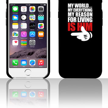 my world is him 5 5s 6 6plus phone cases