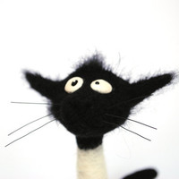 RESERVED fo  Mouse15 Needle Felted - Cat Solange - Hallmarks of Felinity - Soft Sculpture, OOAK - I will Make to order