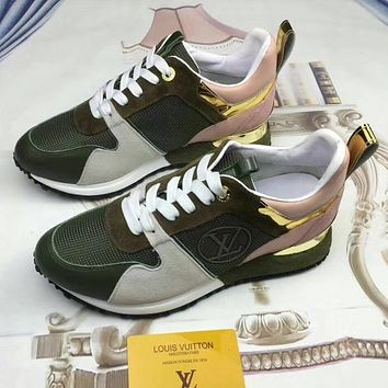 ... buy 690ebcf9bb Louis Vuitton Woman Men Fashion Casual Sneakers Sport  Shoes ... aaf6f878f3ec