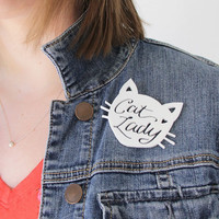 Sale! Cat Lady Happy Pin