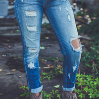 Boyfriend Jeans in Light Denim