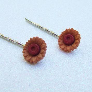 Sunflower Yellow Bobby Pins - Yellow Flower Bobby Pins - Blossom Bloom Bouquet - Barrette Hair Clip - Hair Accessories - Hair Accessory