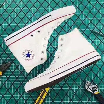 Converse Classic Popular Women Men Canvas Flats High Top Sneakers Sport Shoes