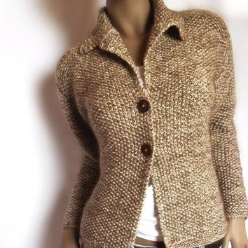 Chocolate Cappuccino Jacket in Luxury SilkMohair and by Pilland