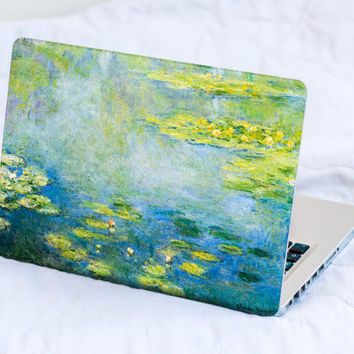 Blue Water Lilies MacBook Decal Skin MacBook decal sticker MacBook Pro Retina Cover MacBook Air Asus Lenovo Claude Monet HP Dell Sony