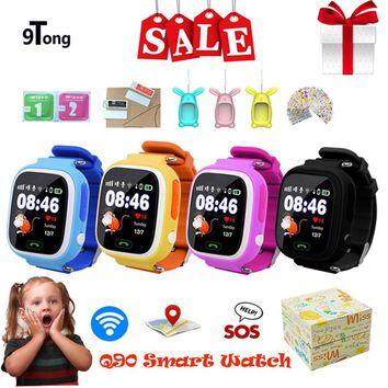 GPS Location Tracker Smart Watch for Kids Children Q90 SOS Phone Fitness Sleep Pedometer Tracking Screen Touch Smartwatch b7