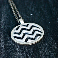 Simple Silver Chevron Necklace by JageInACage on Etsy