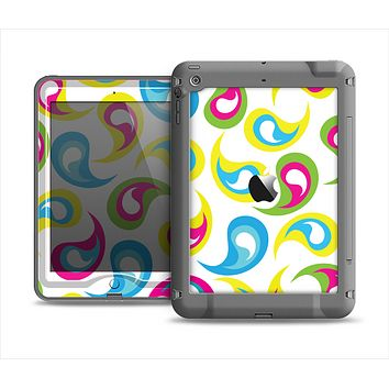 The Colorful Swirl Pattern Apple iPad Air LifeProof Nuud Case Skin Set