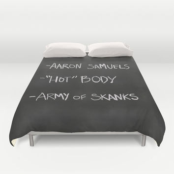 Regina George's Resources from the movie Mean Girls Duvet Cover by AllieR