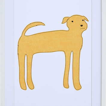Yellow Dog Wall Art
