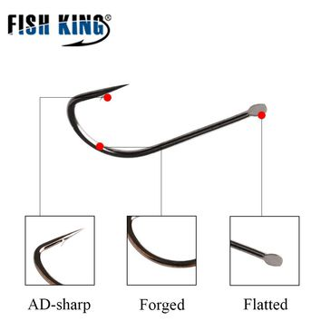FISHKING 1Pack Size 5#-10# Japanese technology Ultra-sharp Fishing Hooks High Carbon Steel carp Fish Hook  Barbed Hooks