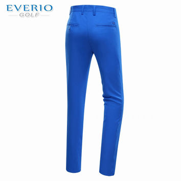 Everio golf pants men autumn thicken trousers dry quick slim sports pants 5 colors men fall golf trousers brand pants whitejl