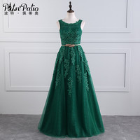 PotN'Patio Real Photo Elegant Evening Dresses Long 2017 Plus Size Emerald Green Mother Of The Bride Dresses