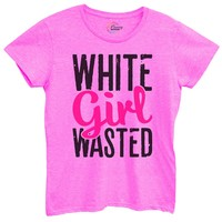 Womens White Girl Wasted Tshirt