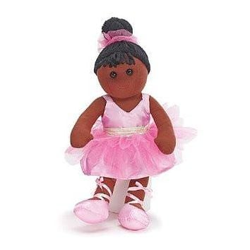 "Burton and Burton Adorable 15"" Black Plush Ballerina Ballet Dance Doll With Pink TuTu"