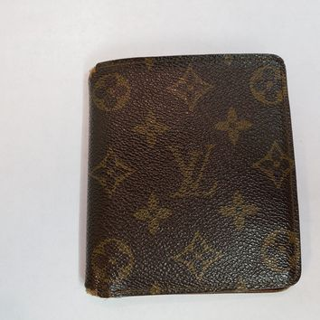 Auth LOUIS VUITTON Mens Credit Wallet Bifold LV Monogram 10 card