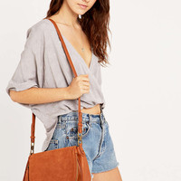Tan Suede Saddle Bag - Urban Outfitters