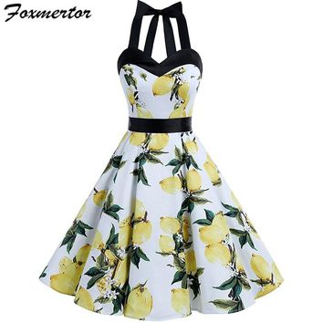 Sleeveless 3D Floral Printed Party Dress