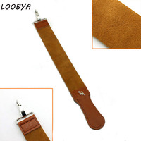 Leather Shaving Strop for Straight Razor Folding Knife Blade Cloth Sharpening Shave Tool