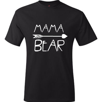 Mama Bear T-Shirt T Shirt Tee Women Ladies Gift Present Custom Mothers Day New Mommy Baby Shower Pregnancy Momma Mommy Mom