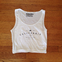 California the golden state tank top brandy Melville inspired lightweight graphic tee womens clothing golden youth apparel