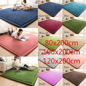 Large sizes 120cm X 200cm Thick Floor Rugs Tatami Mat Play Mat Christmas Gift CL5624