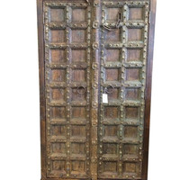 Double Door Cabinet Armoires Carved Wood India Antique Furniture