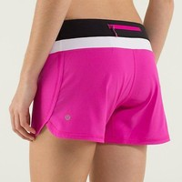 Lululemon Women Casual Zipper Triangle Running Sports Summer Shorts